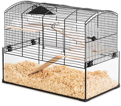 Neo Panas - Jaula pequeña para roedores (52 x 28,5 x 40 cm), color negro