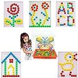#6: Tablor® Creative Mushroom Nails Pegboard Children's Educational Bricks Toys Puzzle Block Toys.(Pack of 2)