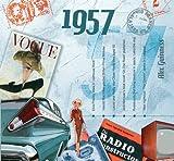 1957 Geburtstag Geschenken - 1957 Chart Hits CD und 1957 Geburtstagskarte
