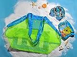 J&L Large & Portable Family Size Beach Mesh Bag Aufbewahrung Netz Tasche für Sandspielzeug Strand Mode Mesh Packsack Transportsack Gepäcksack Netzbeutel