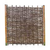 Robinienzaun BALDO Stabil - Sichtschutz Naturzaun aus Robiniengeflecht in 6 Größen (180 x 180 cm)