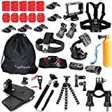 Togetherone 45 in 1 Zubehör Bundle Set für Gopro Hero5/4 Session Hero5 Hero4 Silber Schwarz Hero3+ Hero3 Hero2 Hero 1 SJCAM SJ4000 SJ5000 SJ6000 Rollei DBPOWER VicTsing VTIN APEMAN WiMiUS ThiEYE QUMOX Xiaomi Yi und Andere Sport Action Kamera