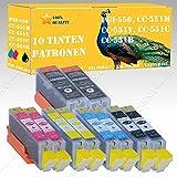 10 x Tintenpatronen mit Chip kompatibel zu Canon Pixma PGI-550 CLI 551 Black Cyan Magenta Yellow MX-Serie MX720 Series / MX725 / MX920 Series / MX925