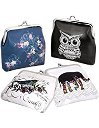 "Bmc 4 Pack Womens Animal & Flower Design 4"" Pu Leather Coin Wallet Purse Pouch By B.M.C"