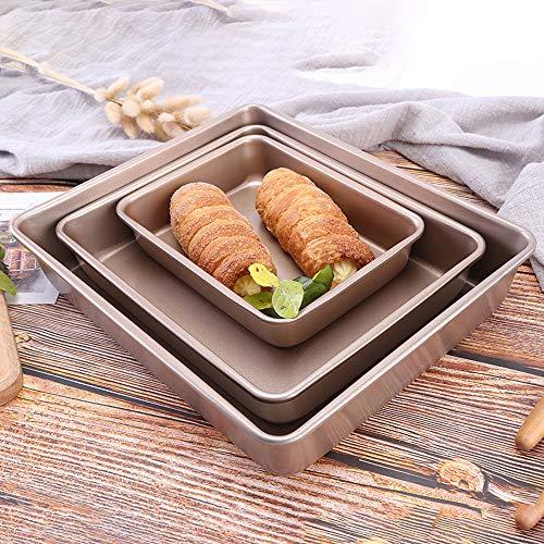 Mdurian Kohlenstoffstahl Backblech Antihaftbeschichtung Bakeware Cookie Kuchenblech Toaster Plätzchen Ofen Pfanne Tablett für Küche Hause Kuchen Pizza Fleisch (Toaster Ofen Backen Pfanne)