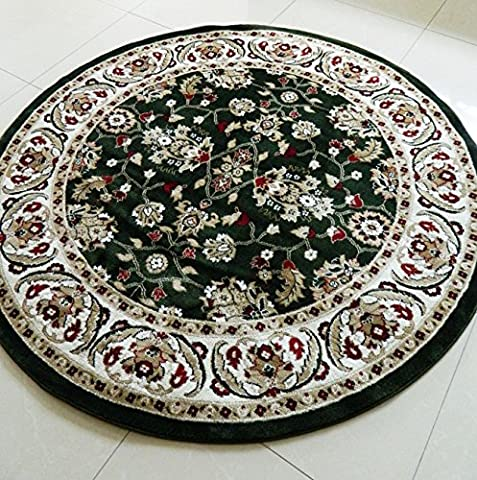 SMALL- XX LARGE GREEN BORDER TRADITIONAL CLASSIC THICK LUXURY SOFT WOOL-LOOK, PERSIAN LOOK, AREA RUGS HEAVY QUALITY AREA RUG SOFT CARPET NON SHED HALL RUNNER BEDROOM LIVING ROOM ROUND CIRCLE RECTANGLE MAT AREA RUG BEAUTIFUL OUTSTANDING QUALTIY (170 CMS (DIAMATER) ROUND XX LARGE CIRCLE)