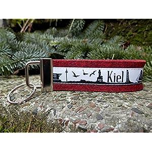 Schlüsselanhänger Schlüsselband schwarz rot