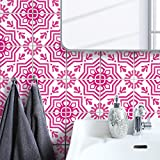 Boubouki Wasserabweisende Fliesenaufkleber MOULAY 03 – für Bad und Küche | 15 x 15 cm
