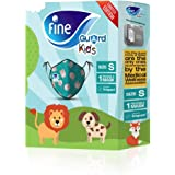 Fine Guard Kids Face Mask, Reusable face mask with virus-killing, antiviral Livinguard Technology, – Green Limited Edition, S