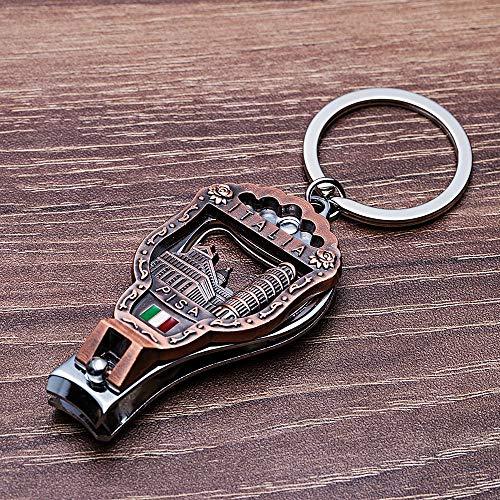 Inveroo Italia Vintage Nagel Clipper Schlüsselanhänger 3D Relief Schiefen Turm Von Pisa Florenz Kathedrale Schlüsselanhänger Italien Souvenirs - Nagel Clippers Schlüsselanhänger
