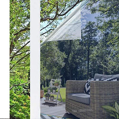 rabbitgoo Spiegelfolie Selbstklebend Sonnenschutzfolie Sichtschutzfolie Verdunklungsfolie Fensterfolie für Fenster Sichtschutz Spiegel Folie Wärmeisolierung Tönungsfolie UV-Schutz Silber 44,5 x 200 cm