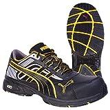 Puma Safety Shoes Pace Black Low S3 HRO SRA, Puma 642500-263 Unisex-Erwachsene Espadrille Halbschuhe, Schwarz (schwarz/gelb 263), EU 39