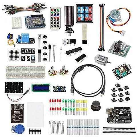 SainSmart UNO R3 RFID Maestro Kit con Servomotore, LCD, Vari Sensori per Arduino IDE AVR MCU Discente