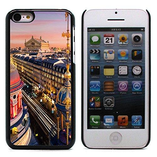 Graphic4You Paris At Night Skyline View Postkarte Ansichtskarte Design Harte Hülle Case Tasche Schutzhülle für Apple iPhone 5C Design #13