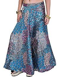 Exotic India Wrap-Around Falda Larga con Estampado de Flores
