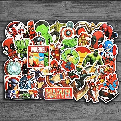 yunkanda 50 Teile / Los Marvel Anime Klassische Aufkleber Spielzeug Für Laptop Skateboard Gepäck Aufkleber Wasserdicht Lustige Spiderman Aufkleber Für Kinder