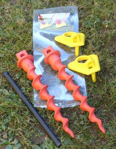 2x erdsand Gusano 2Unidades consta de 2x Ganchos de lápiz placa WURMI de productos® fabricado en Ale STI piquetas Stabielo erdschrauber WURMI® Kombifix