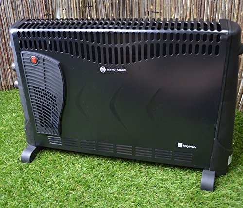 61XSoNmAGcL - Kingavon BB-CH506 2kW Convector Heater with Turbo and Timer - Black
