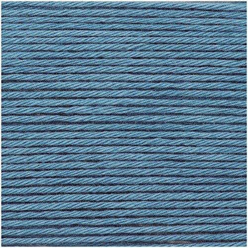 2018!!! 25g Ricorumi dk - Farbe: 034 - Jeans - feine Baumwolle zum Häkeln von Amigurumi-Figuren oder Topflappen.