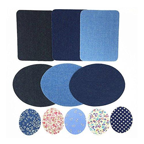 Imagen de dierdi applique motif 11pcs patch mano codo pegatinas de hierro o coser en parches insignias para jeans chaquetas ropa  hat hat hat