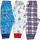 EIO® Premium Quality Grip Leggings Long Pant Pajama -3 Pack (12-18 Months)