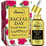 #6: StBotanica Facial Day Youth Serum - 30ml - with Natural SPF & Vitamin C for Skin Brightening, Fairness