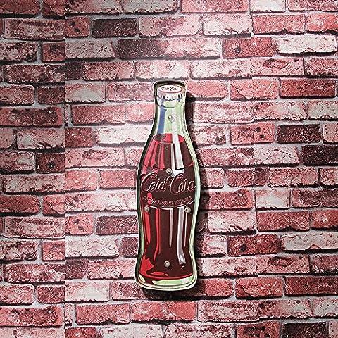 LL lampada da parete di Natale Coke di figura della bottiglia indicatore LED lavanderie self-service luce LED della parete della decorazione Supermercato centri commerciali caffetteria bar corridoi dipinti di metallo decorative ingresso Corridoio