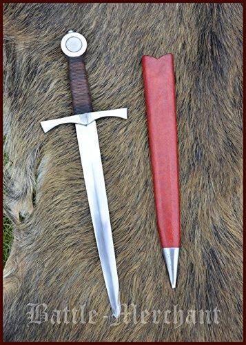 Für Kostüm Samurai Verkauf - Scheibenknaufdolch für leichten Schaukampf, inklusive Scheide, SK-C Dolch Stiefelmesser LARP Ritter Samurai Mittelalter Verkauf ab 18 Jahren