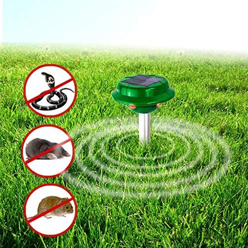 LQFLD Solarbetriebene Schlangenabwehr-Sonic Mole & Gopher Deterrent Repeller Chaser Spike Scare Vole Away im Freien