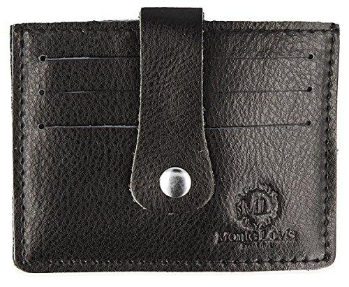 Monte Lovis Ausweis- und Kreditkarten-Etui Echt Leder Karten-Etui Kredikartenmäppchen Visitenkarten-Etui Geldbörse Geldbeutel Portmonnaie (KB-2)