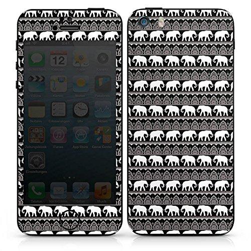 Apple iPhone SE Case Skin Sticker aus Vinyl-Folie Aufkleber Elefant Henna Mandala DesignSkins® glänzend