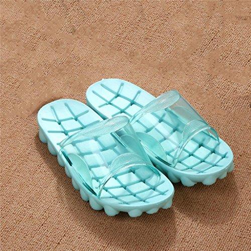 KLDDZQ Slippers Pantofole da Bagno Home Pavimenti in Legno Pantofole da Bagno Antisdrucciolevoli Pantalone per Sauna silenziosa Mute Pantofole dell'hotel...