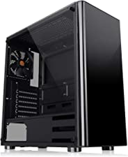 Thermaltake CA-1K8-00M1WN-00 V200 Tempered Glass Edition Mid Tower Computer Case ATX With Tempered Glass Panel On The Left S