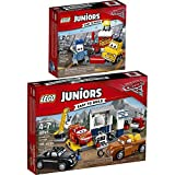 LEGO Juniors Disney Cars 2er Set 10732 10743 Guido und Luigis Pit Stopp + Smokeys Garage