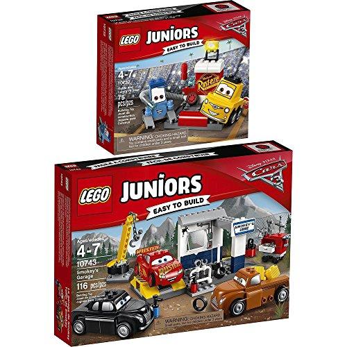 LEGO Juniors Disney Cars 2er Set 10732 10743 Guido und Luigis Pit Stopp + Smokeys Garage