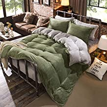 Pure morbido cashmere flanella Larry diritto privato dimensioni 1.5-1.8m caldo inverno , light green , king