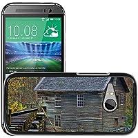 Carcasa Funda Prima Delgada SLIM Casa Case Bandera Cover Shell para // M00170911 Grist Mill Mountains rurale Mill // HTC One Mini 2 / M8 MINI / (Not Fits M8)