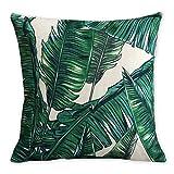 Americana Cuscino Flamingos e foglia di palma arte moderna in cotone e lino federa cuscino decorativo cuscini Home Decor divano tiro copertura del cuscino 45 x 45 cm