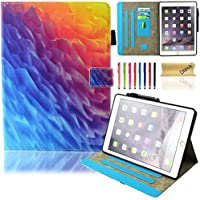 Free Screen Protector TKOOFN Heavy Duty Tough Shockproof with Stand Hard Case Cover For Apple iPad Air 2 Launched Oct. 2014 + Free Stylus Touch Pen PT5161 Free Cleaning Cloth White