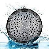 SoundSOUL 004 Bluetooth Lautsprecher Wasserdicht Tragbar Kabellos HD für Badezeit , Dusche , Sport , Sandstrand , Büro Mini Lautsprecher für Handy , Tablet , Laptop , PC ( Schwarz )