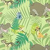 Baumwollstoff Disney König der Löwen – Grün —