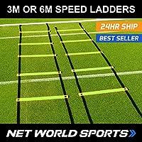 Escaleras de Velocidad FORZA   Escaleras de Agilidad de 3m y 6m   Escala de Entrenamiento Ajustable - [Net World Sports] (3m)