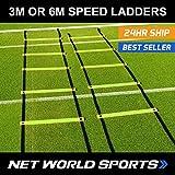 Escaleras de Velocidad FORZA | Escaleras de Agilidad de 3m y 6m | Escala de Entrenamiento Ajustable - [Net World Sports] (3m)