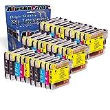 Premium 30er Set Druckerpatronen Kompatibel für Brother LC1100 LC-1100 LC 1100 LC 980 LC980 LC-980 XL für DCP6690CW DCP385C DCP145c DCP165C DCP185C DCP195C DCP395CN DCP585CW DCP6690CW MFC6490CW MFC6490cn MFC490CN MFC490CW DCPJ715W DCP 375CW MFC 5890CN MFC