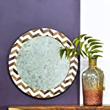 Casa Decor Resonating Mirror Wall Hanging Wooden Wall Decor Round Shape For Living Room, Bedroom, Kids Room