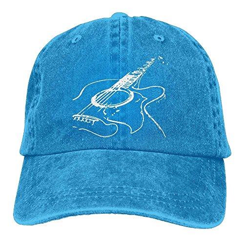 ferfgrg Unisex Acoustic Guitar 1 Vintage Jeans Baseball Cap Classic Cotton Dad Hat Adjustable Plain Cap HI634