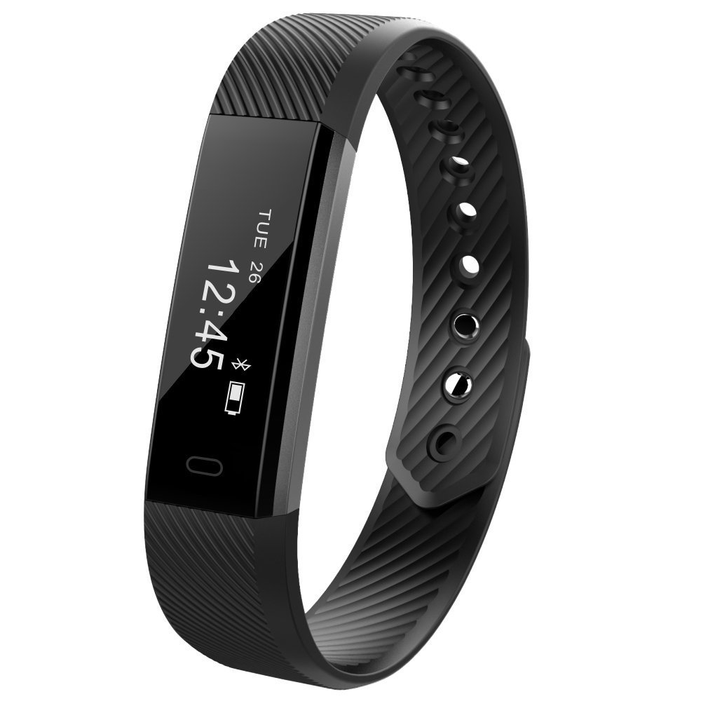 Upgraded Fitness Tracker Self-Timer Slim Smart Watch New Bracelet Bluetooth Call Reminder Calorie Counter Wireless Pedometer Band Sport Sleep Monitor Activity Tracker For Android iOS Phone (NEW Black)