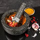 from Savisto Savisto Premium Solid Granite Pestle And Mortar - Large 15.5cm Diameter Model FBASV-KITC-Z001