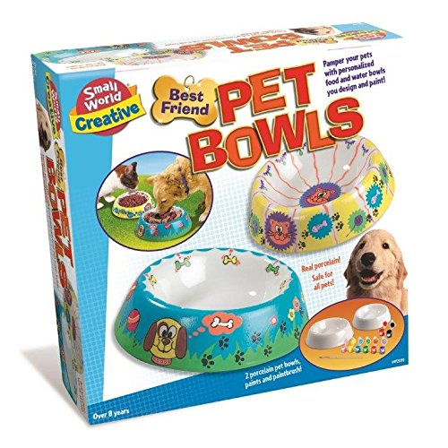 Paint & Design Your Best Friend Pet Bowls - Creating Kit - New for 2015 Creative - Arts & Crafts Toys Games Gift Present Idea For Birthdays Age 8+ Children Kids Boys Girls