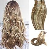 Clip en extensiones de cabello Extensiones verdaderas del pelo humano del 100% Pelo remy para...